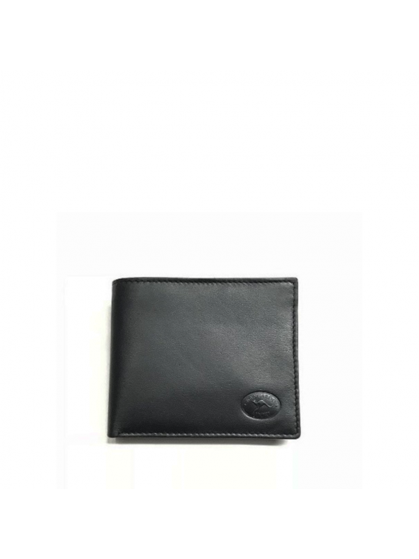 Napa Kangaroo Leather 8 Card+ Mens Wallet - Black