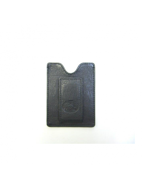 Napa Kangaroo Leather Magnetic Money Clip & Card Case - Black