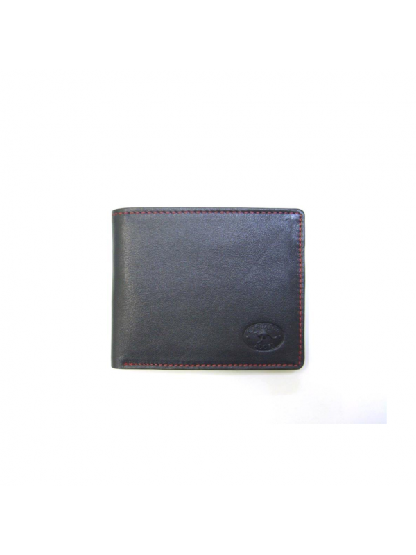Napa Kangaroo Leather 10 Card+ Mens Wallet w/ Contrast Stitching