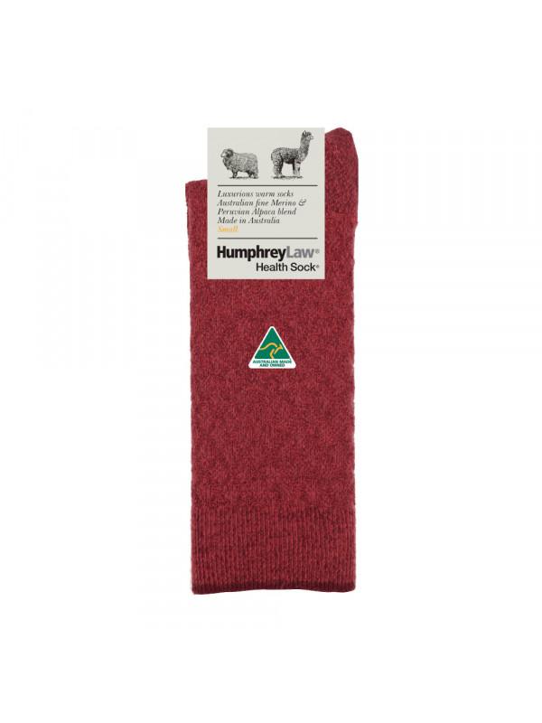 Fine Merino/Baby Alpaca Blend Women's' Quilted Health Sock®