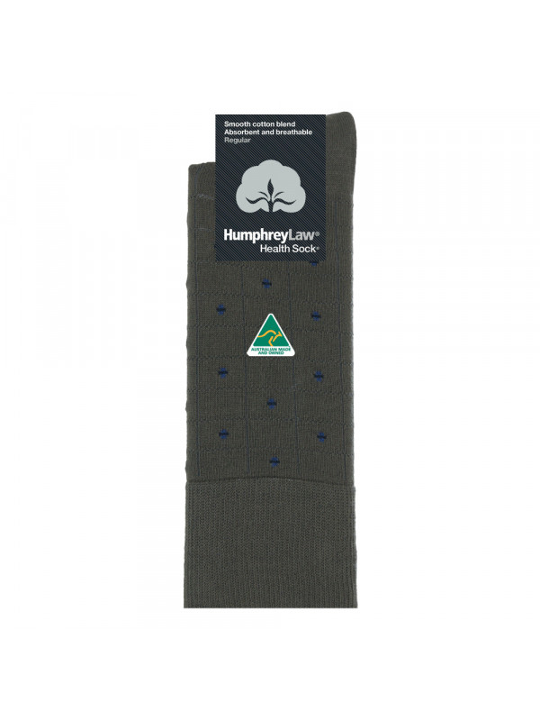 85% Mercerised Cotton Patterned Men's Health Sock® - Check Spot