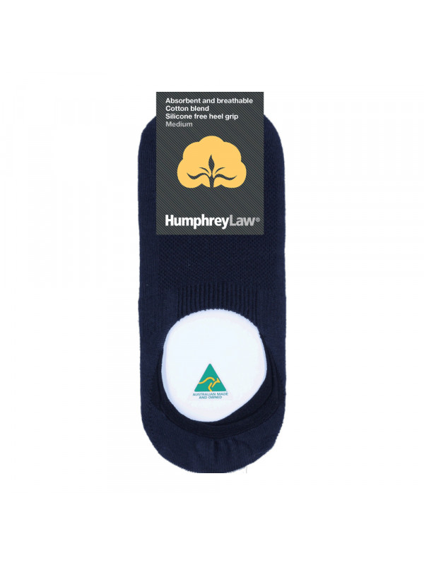 Cotton Blend Invisible Sock with Silicone Free Heel Grip