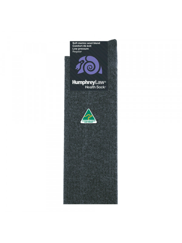 60% Fine Merino Wool Ribbed Low Pressure Men's Health Sock®