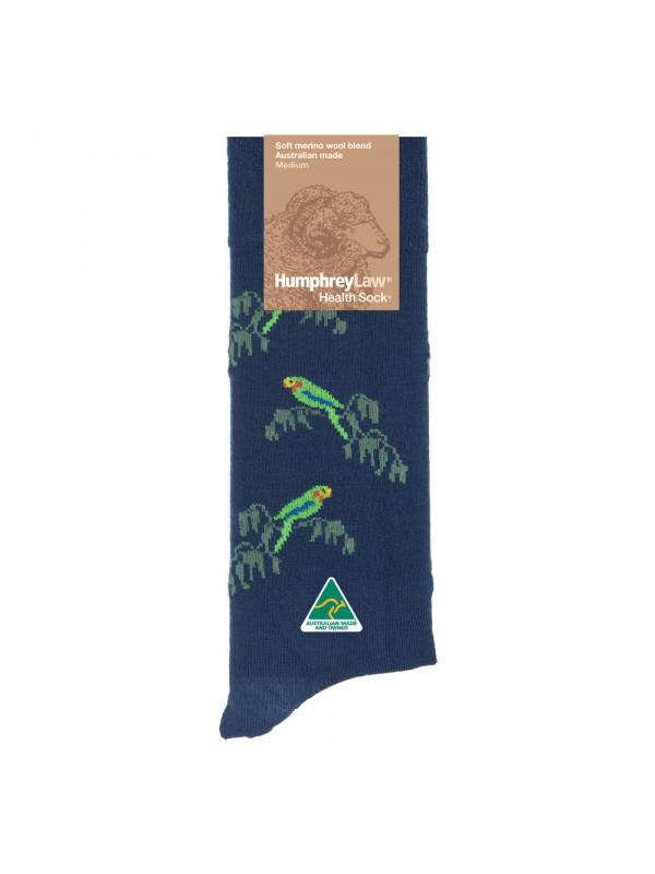 60% Fine Merino Wool Patterned Women's' Health Sock® - Sunflower