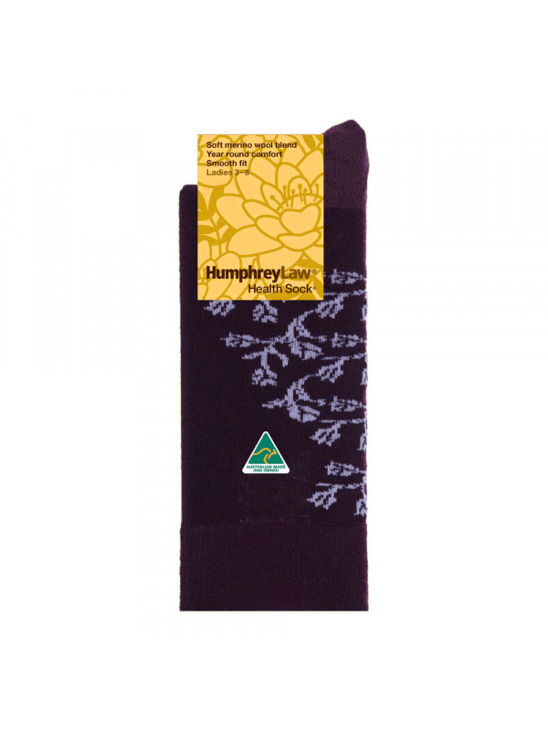 60% Fine Merino Wool Patterned Women's' Health Sock® - Elegant