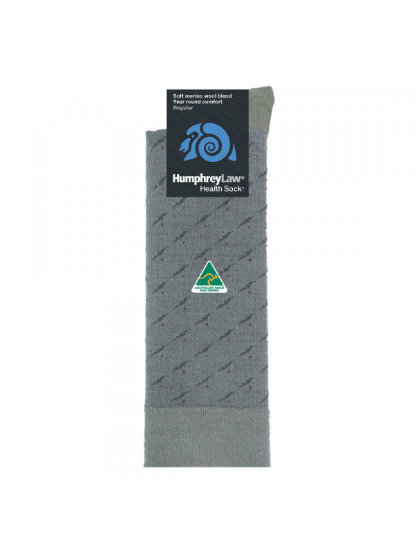 Men's Soft Merino Wool Blend Health Sock® - Rain