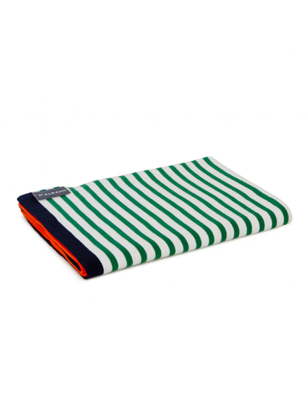 Fever - Contrast Knit Cotton Throw