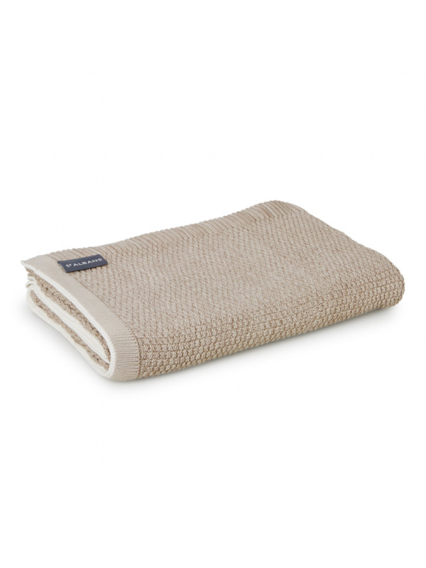 Latte - Textured Knit Cotton Throw
