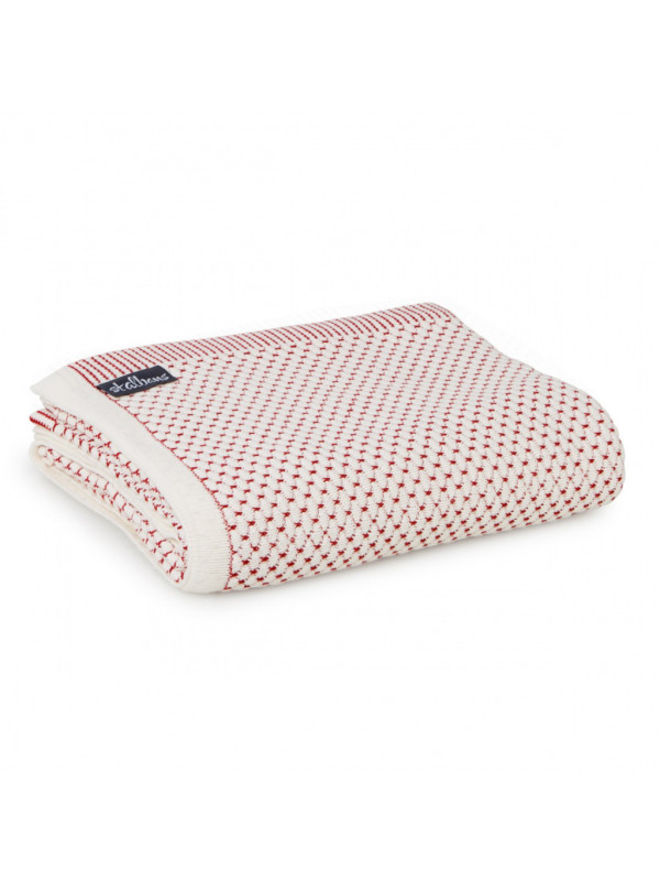 Red Baron - Pineapple Knit Cotton Throw