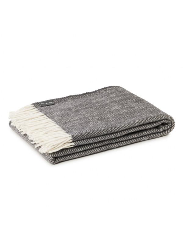 Slate - Woven Fine Merino Throw