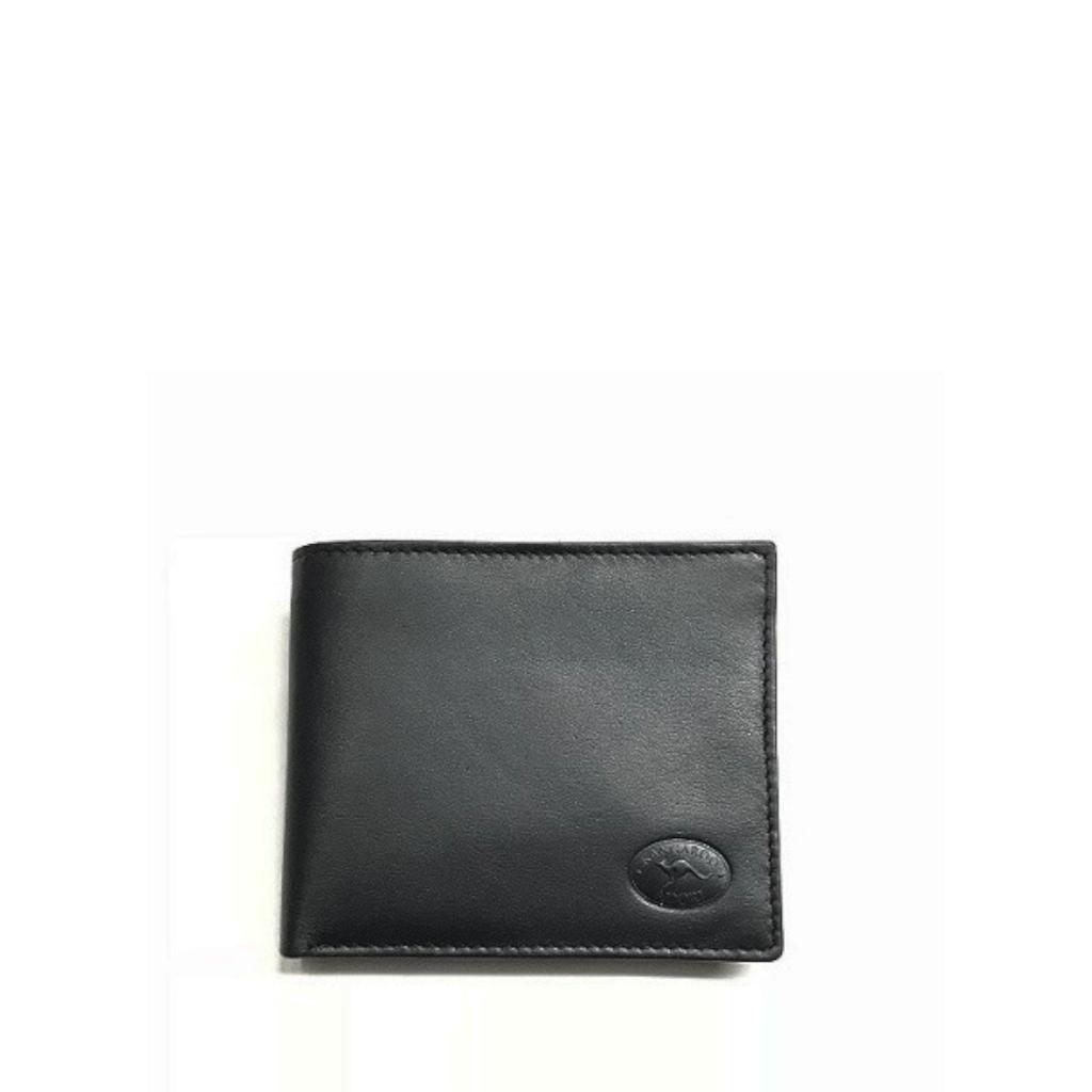 Napa Kangaroo Leather 8 Card+ Mens Wallet - Black