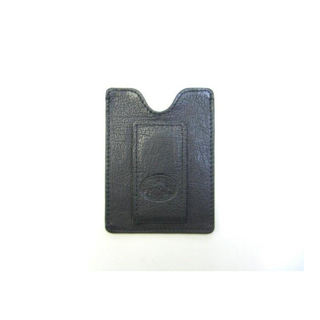 Napa Kangaroo Leather Magnetic Money Clip & Card Case - Black