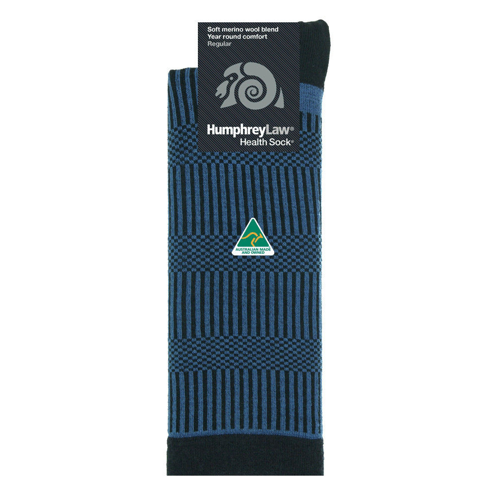 65% Soft Merino Wool Patterned Health Sock® - Verticals