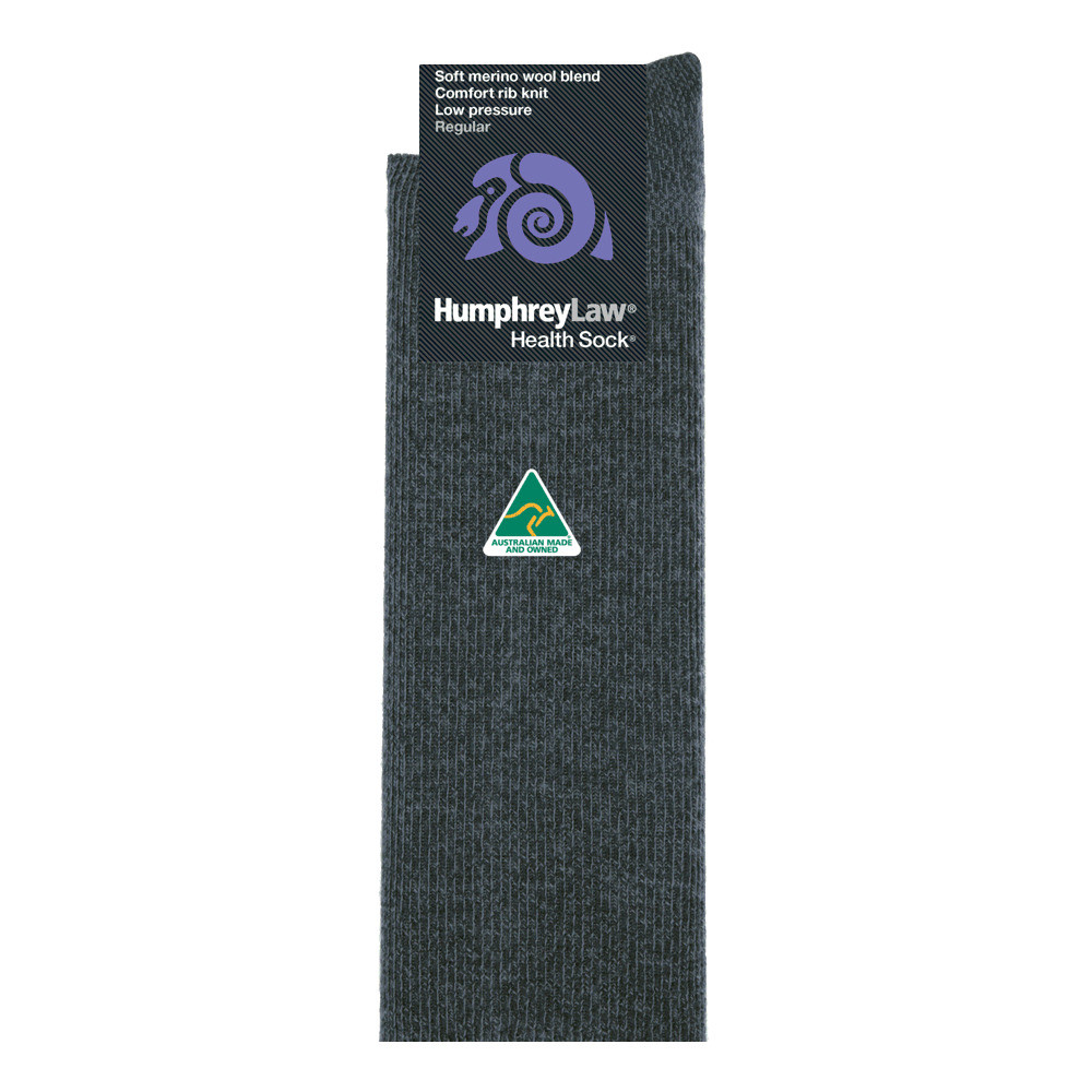 60% Fine Merino Wool Ribbed Low Pressure Men's Health Sock®