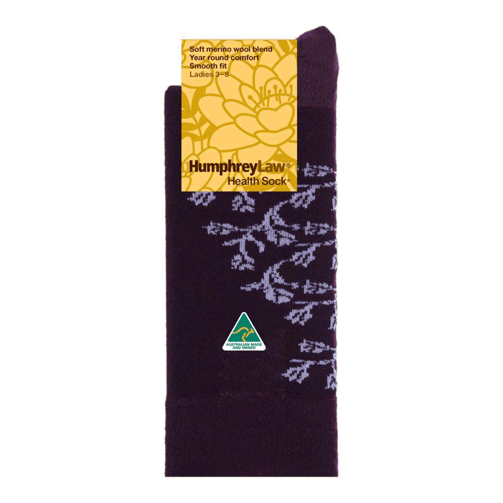 60% Fine Merino Wool Patterned Women's' Health Sock® - Elegant